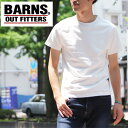 送料無料 BARNS OUTFITTERS クルーネック 半袖Tシャツ