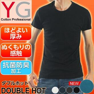YG 圓領 T 恤 doubleshot 系列男人適合內衣內褲抗菌除臭雙熱牌圓領 t 恤