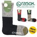 送料無料 rasox ラソックス パネルウールクルー 靴下 ハイソックス クルーソックス メンズ レディース ユニセックス ナイロン ウール P06May16
