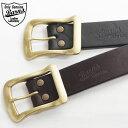 送料無料 Barns Leather Laboratory 栃木レザー 40mm ゴールドバックルベルト LE-3055 バーンズ ベルト 牛革 ベルト 本革 ベルト