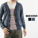 送料無料 HOUSTON ヒューストン インディゴ 起毛 カーディガン 21125 メンズ トップス ジップカーディガン ネイティブ 民族調 オルテガ ボヘミアン トライバルファッション