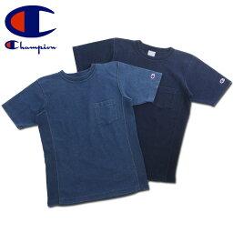 送料無料 Champion チャンピオン リバースウィーブ インディゴ Tシャツ C3-H307 メンズ トップス 半袖Tシャツ チャンピオン 半袖 シャツ ブランド レディース