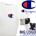 送料無料 Champion チャンピオン アクションスタイル ビッグロゴ Tシャツ C3-F362 メンズ トップス 半袖Tシャツ チャンピオン 半袖 シャツ ブランド ビッグC ロゴ レディース