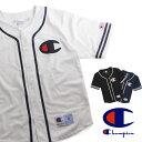 送料無料 Champion チャンピオン アクションスタイル ベースボールシャツ C3-H365 メンズ トップス シャツ Tシャツ 半袖 メッシュ アメカジ スポーツMIX レディース P06May16