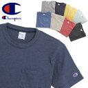 送料無料 Champion チャンピオン Basicシリーズ ポケット付き Tシャツ C3-H362 メンズ トップス 半袖 Tシャツ ポケット付き ポケT ポケットTシャツ レディース P06May16