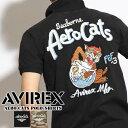 AVIREX アビレックス AERO CATS ポロシャツ AVIREX ブランド 半袖 ポロシャツ メンズ エアロ キャッツ 半袖 ポロ ミリタリー アヴィレックス