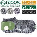 送料無料 rasox ラソックス クールメッシュ ロウ 靴下 ソックス rasox ラソックス ロー ソックス 綿 メンズ レディース 紳士 婦人 ユニセックス