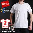 送料無料 Hanes ヘインズ X-TEMP クルーネックTシャツ 2枚組 HM1EH701 メンズ トップス 半袖 Tシャツ アンダーウエア 下着 タグレス プリントタグ P06May16