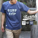 送料無料 BARNS MADE IN USA プリントTシャツ BR-6732 半袖 メンズ カットソー バーンズ アメカジ アメリカ製 米国製 ベイグネック バインダーネック