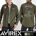送料無料 ミリタリーL/Sシャツ VIETNAM SOUVENIR SHIRT 6165135 AVIREX アヴィレックス アビレックス メンズ 長袖シャツ