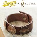 送料無料 BARNS × Button Works リアルコイン コンチョブレスレット BR-6985 メンズ アクセサリー レザー ブレスレット アメカジ ネイティブアメリカン バッファロー