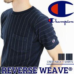 送料無料 Champion チャンピオン リバースウィーブ インディゴ クルーネックTシャツ C3-K305 クルーネック 半袖 トップス 半袖Tシャツ シャツ メンズ Tシャツ アメカジ