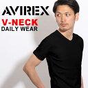 即納可★AVIREX アビレックス Tシャツ デイリー 半袖 Vネック 6143501 617351