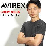 【【】AVIREX アビレックス デイリー クルーネックTシャツ 半袖 トップス 無地 シンプル 6143502 617352【メール便】【RCP】【楽ギフ包装】【メーカー取次(一部即納)】