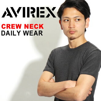 AVIREX avirex daily crew neck T Shirt Short Sleeve Tops plain simple