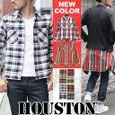 送料無料 チェックシャツ メンズ HOUSTON ヒューストン ビエラワークシャツ メンズ シャツ ネルシャツ ワークシャツ ヴィエラ シャツ ブランド