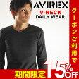 送料無料 AVIREX アビレックス Vネック ロングスリーブ Tシャツ avirex アヴィレックス
