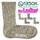 送料無料 rasox ラソックス スプラッシュ・コットン 靴下 ハイソックス フルレングス クルーソックス メンズ レディース L字型 KW P06May16