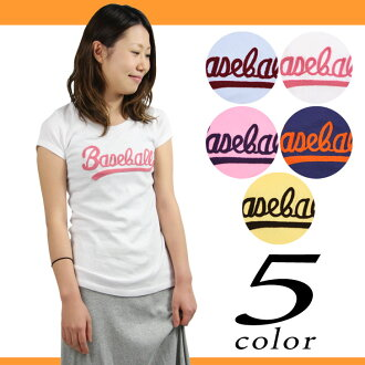 Less than half! 60% Off ★ baseball embroidered logo short sleeve T shirt women's tops sewn inner baseball White T sporty