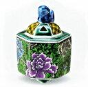 九谷焼 「3号香炉・牡丹」お祝い・海外への贈り物・ギフト