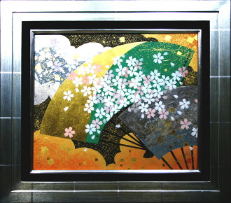 "Artist ""扇面輝図, cherry tree"" Tamaki Ueda"