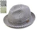 """帽子 日本製""""Borsalino(ボルサリーノ)""""ギンガムチェック中折れ帽[BX523][ハット] 【あす楽対応】[大きいサイズの帽子アリ][小さいサイズあり]【コンビニ受取対応商品】SS17B"""