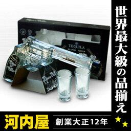 イホス・デ・ビジャ ブランコ リボルバー ボトル ショットグラス2個付 テキーラ 200ml 40度 正規 kawahc