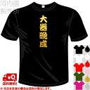 河内國製作所 「大器晩成Tシャツ」全5色。四文字熟語漢字おもしろTシャツ おもしろてぃしゃつ ドライTシャツ メール便は送料無料