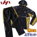 ハタケヤマ ウェア 長袖 ピステ 上下セット 限定品 HF-WP17 ブラック×ゴールド