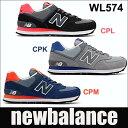 【送料無料】 ニューバランス レディーススニーカー WL574 ブラック/ピンク,グレー/パープル,ネイビー/オレンジ newbalance wl574 CPM CPL CPK 02P03Dec16