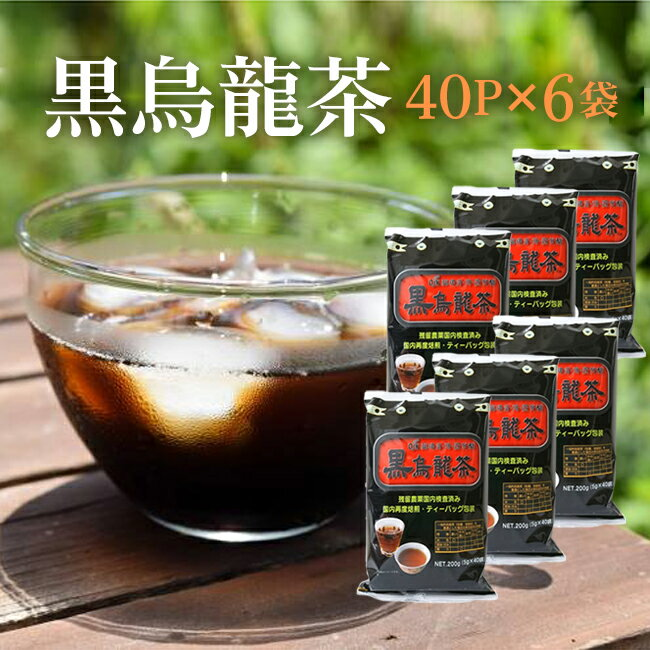 お徳な黒烏龍茶40P×6袋セット 日々経済的に飲...の商品画像