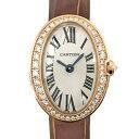 【中古】カルティエ ミニベニュワール K18PG ピンクゴールド ダイヤモンドベゼル 腕時計 WB520028 クォーツ Cartier