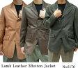 【 メンズ レザージャケット 】ラム 3つボタン テーラードジャケット 6176 《送料無料》ラムジャケット 3つボタンジャケット  メンズジャケット 革ジャン 皮ジャン 革ジャケット 皮ジャケット