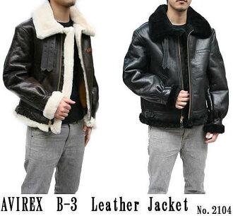 (Avirex) 羊皮革毛絨外套夾克 b 3 2104年皮夾克、 avirex、 皮夾克、 皮夾克、 皮革和 B3 飛行夾克 (外 / 跳線 / フライトジャケット / 皮革 / 郵件訂單 / 樂天)