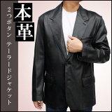 我赞同的许多大小! - 使用高品质材料! 7865 - 两个按钮的皮夹克[日本製【レザージャケット】【革ジャン】【メンズ】 カウオイル 2つボタン テーラードジャケット 7865 《》ブレザー 皮ジャン 本革 皮ジャケッ