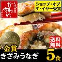 きざみうなぎの蒲焼き×5食セット【送料無料】【ウナギ 鰻 蒲焼き 国産 国内産 ちらし寿司】