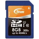 8GB SDHCカード SDカード Team チーム SDHC UHS-Iシリーズ Class10 U1 R:45MB/s W:15MB/s TG008G0SD3FT ◆メ