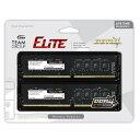 16GB 2枚組 DDR4 デスクトップPC用メモリ Team Elite PC4-25600 DDR4-3200 288pin UDIMM 1.2V 16GBx2(計32GB) TED432G3200C22DC01 ◆メ