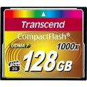 ◇ 【128GB】 Transcend/トランセンド 1000倍速 CFカード/コンパクトフラッシュ UDMA7対応/永久保証 TS128GCF1000 ◆宅