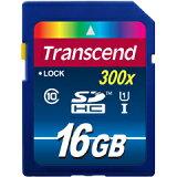 ◇ 【16GB】 Transcend/トランセンド SDHCカード Class10 UHS-I対応 最大45MB/s 永久保証 TS16GSDU1 ◆メ