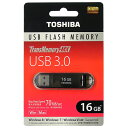 ◇ 【16GB】 TOSHIBA/東芝 USBメモリー TransMemory-MX USB3.0対応 ブラック 海外リテール V3SZK-016G-BK ◆メ