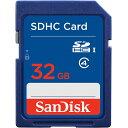 32GB SDHCカード SDカード SanDisk サンディスク CLASS4 海外リテール SDSDB-032G-B35 ◆メ