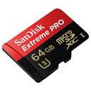 ◇ 【64GB】 SanDisk/サンディスク Extreme Pro UHS-I(U3)対応 microSDカード 633倍速 最大95MB/s SDSDQX...