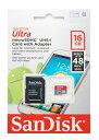 楽天風見鶏◇ 【16GB】 SanDisk サンディスク microSDHCカード Ultra UHS-I Class10 最大48MB/s SDアダプター付 海外リテール SDSDQUAN-016G-G4A ◆メ