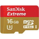 �� ��16GB�� SanDisK ����ǥ����� Extreme microSDHC������ R:90MB/s UHS-I U3�б� ������ơ��� SDSQXNE-016G-GN6MA ����