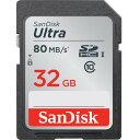 32GB SDHCカード SDカード SanDisk サンディスク Ultra CLASS10 UHS-I R:80MB/s 海外リテール SDSDUNC-032G-GN6IN ◆メ