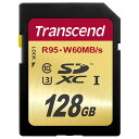 楽天風見鶏◇ 【128GB】 Transcend/トランセンド SDXCカード UHS-I U3対応 最大R:95MB/s W:60MB/s 4K動画対応 TS128GSDU3 ◆メ