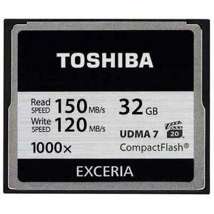 ◇ 【32GB】東芝/TOSHIBA EXCERIA 1000倍速コンパクトフラッシュ UDMA7対応 最大R:150MB/s /W:120MB/s 海外パッケージ CF-032GTR8A ◆メ