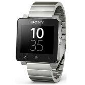 ◇ 【数量限定!FIFAブラジルカラーのバンド付き☆】SONY ソニー スマートウォッチ2 シルバー Smart Watch 2 SW2 Silver メタルブレス付 海外リテール 1279-9869 ◆宅