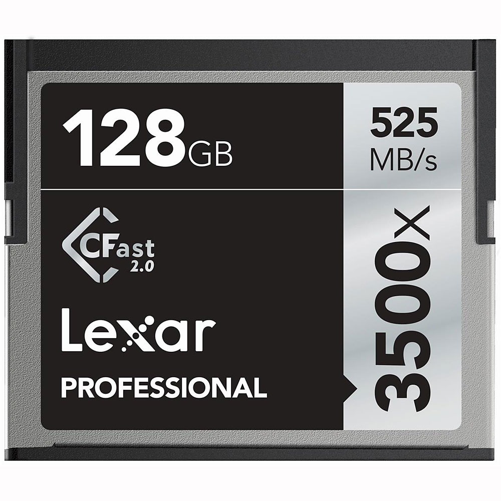 ◇ 【128GB】 LEXAR レキサー Professional CFast 2.0 カード 3500倍速 最大R:525MB/s 海外リテール LC128CRBEU3500◆宅
